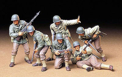 Tamiya US Army Assault Infantry Soldiers -- Plastic Model Military Figure Kit -- 1/35 Scale -- #35192