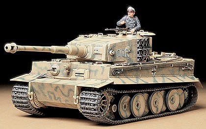 Tamiya German Tiger I Mid Production Tank -- Plastic Model Military Vehicle Kit -- 1/35 Scale -- #35194
