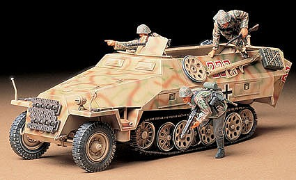 Tamiya German Sd.Kfz. 251/1 Halftrack -- Plastic Model Military Vehicle Kit -- 1/35 Scale -- #35195