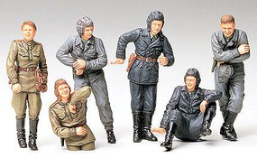 Tamiya Russian Army Tank Soldiers Crew Plastic Model Military Figure Kit 1/35 Scale #35214