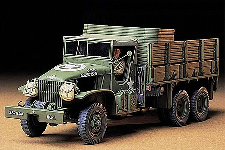 Tamiya US 2.5 Ton 6x6 Cargo Truck -- Plastic Model Military Vehicle Kit -- 1/35 Scale -- #35218