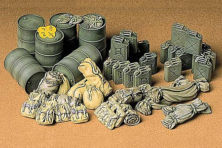 Tamiya Allied Vehicles Accessory Set -- Plastic Model Military Diorama Kit -- 1/35 Scale -- #35229