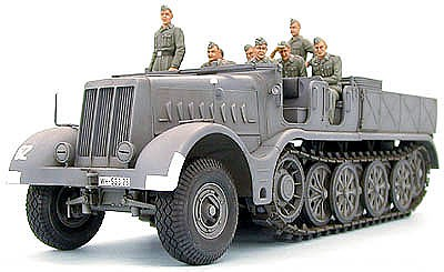 Tamiya German 18 Ton Half Track Famo -- Plastic Model Military Vehicle Kit -- 1/35 Scale -- #35239
