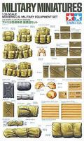 Tamiya Modern U.S. Military Equipment Set Plastic Model Military Diorama Kit 1/35 Scale #35266