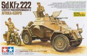 Tamiya Sd.Kfz.222 North Africa Plastic Model Military Vehicle Kit 1/35 Scale #35286
