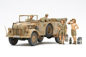Tamiya German Steyr Type 1500A/01 & Africa Corps Plastic Model Military Kit 1/35 Scale #35305