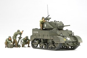 Tamiya US Light Tank M5A1 w/4 Figures Plastic Model Military Vehicle Kit 1/35 Scale #35313