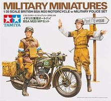 Tamiya British BSA M20 Motorcycle w/Police Plastic Model Military Vehicle Kit 1/35 Scale #35316