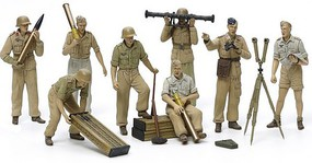 Tamiya German Artillery Crew Set Africa Corps Plastic Model Military Vehicle Kit 1/35 Scale #35343