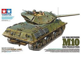 Tamiya US Tank Destroyer M10 Mid Production 1/35 Scale Plastic Model Military Vehicle #35350