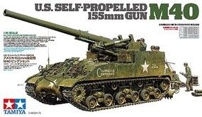 Tamiya US Self-Propelled 155mm Gun M40 Plastic Model Military Vehicle Kit 1/35 Scale #35351