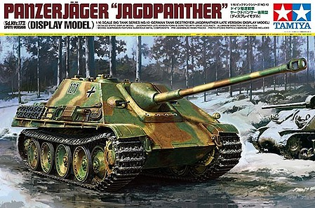 Tamiya German Jagdpanther Late Vs -- Plastic Model Military Vehicle Kit -- 1/16 Scale -- #36210