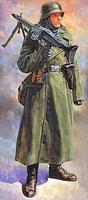Tamiya German Machine Gunner Soldier Plastic Model Military Figure Kit 1/16 Scale #36306