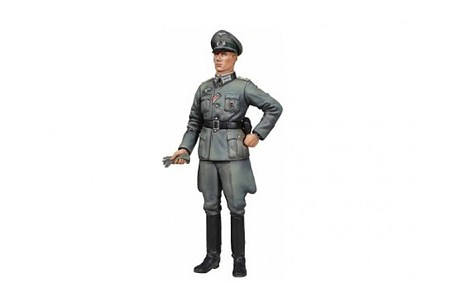 Tamiya WWII Soldier Wehrmacht Officer -- Plastic Model Military Figure Kit -- 1/16 Scale -- #36315