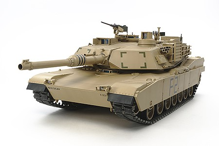Tamiya U.S.Mbt M1A2 Abrams R/C -- Plastic Model Military Vehicle Kit -- 1/16 Scale -- #56041