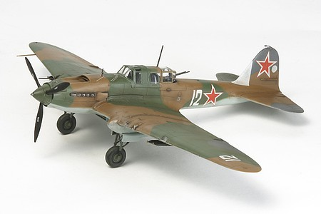 Tamiya IL2 Sturmovik Fighter -- Plastic Model Airplane Kit -- 1/72 Scale -- #60781