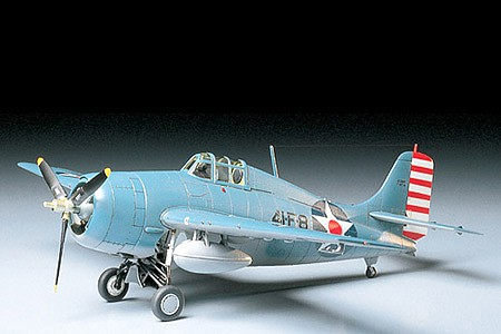 Tamiya Grumman F4F-4 Wildcat Fighter Aircraft -- Plastic Model Airplane Kit -- 1/48 Scale -- #61034