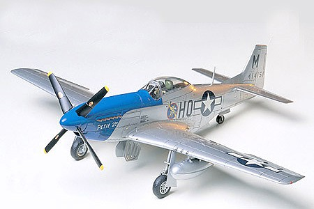 Tamiya North American P-51D Mustang -- Plastic Model Airplane Kit -- 1/48 Scale -- #60741