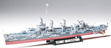 Tamiya US Navy DD445 Fletcher Destroyer Boat -- Plastic Model Military Ship Kit -- 1/350 Scale -- #78012