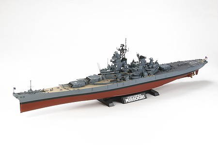 Tamiya US Battleship BB-63 Missouri Boat -- Plastic Model Military Ship Kit -- 1/350 Scale -- #78029