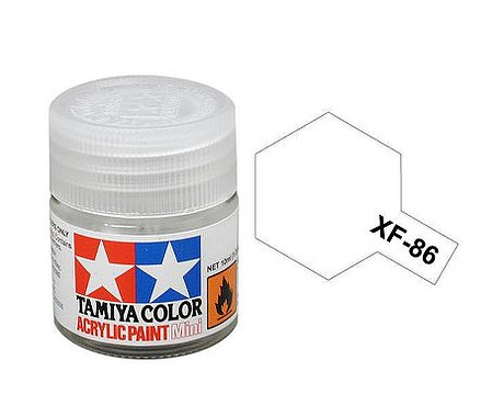 Tamiya Acrylic Mini XF86 Flat Clear 10ml Bottle -- Hobby and Model Acrylic Paint -- #81786
