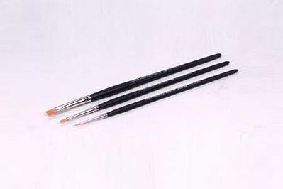 Tamiya Modeling High-Finish Paint Brush Set -- 3 Brushes -- #87067