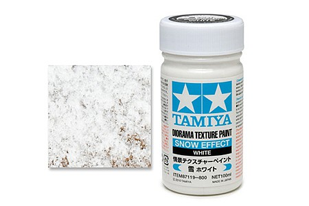 Diorama Texture Paint Snow Effect tam87119 Tamiya Hobby and