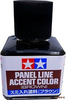 Tamiya Brown Panel Line Accent Color (40ml Bottle)