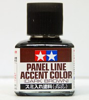 Tamiya (bulk of 6) Dark Brown Panel Line Accent Color (40ml Bottle)
