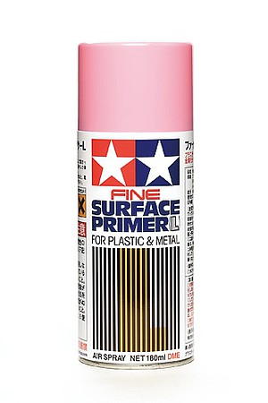 Tamiya Fine Surface Primer Large Pink (180ml Spray)