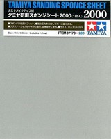 Tamiya Sanding Sponge Sheet 5x5.5 (5mm thick) 2000 Grit