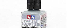 Tamiya (bulk of 6) Light Gray Panel Line Accent Color (40ml Bottle)