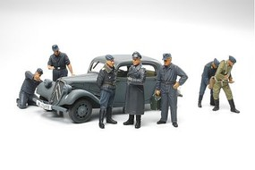 Tamiya Citroen 11CV/Luftwaffe Figures Plastic Model Military Diorama Kit 1/48 Scale #89731
