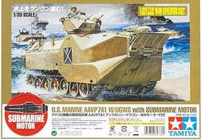 Tamiya US AAVP7A1 w/Sub Motor Plastic Model Military Vehicle Kit 1/35 Scale #89736