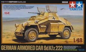 Tamiya German Armored Car Sd.Kfz.222 Plastic Model Military Vehicle Kit 1/48 Scale #89777