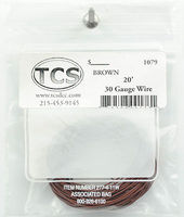 TCS 20 30-Gauge Wire Brown Model Railroad Hook Up Wire #1079