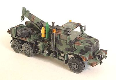 Trident Miniatures Medium Trucks MTVR Mk26 6x6 Wrecker Resin Kit -- HO Scale Model Roadway Vehicle -- #87098