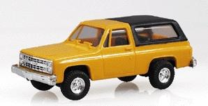 Trident Miniatures Chevrolet Full Size Blazer Yellow w/Black Hard Top -- HO Scale Model Roadway Vehicle -- #900013