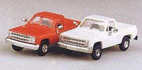 Trident Trucks Chevrolet 4 Wheel Drive Pick Up White HO Scale Model Roadway Vehicle #90002