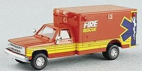 Trident Fire/Rescue vehicle HO Scale Model Roadway Vehicle  #90061