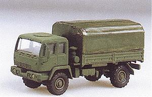 Trident Miniatures M1078 2-1/2-Ton Single Axle Flatbed w/Canvas Cover -- HO Scale Model Railroad Vehicle -- #90086