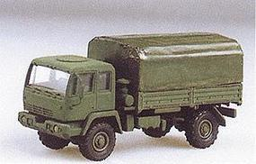 Trident M1078 2-1/2-Ton Single Axle Flatbed w/Canvas Cover HO Scale Model Railroad Vehicle #90086