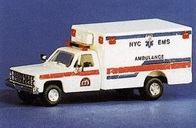 Trident NYC EMS Ambulance w/Chevy Pick-Up Cab HO Scale Model Railroad Vehicle #90107