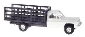 Trident Chevrolet Pickup w/Stakebed Body White HO Scale Model Railroad Vehicle #901531