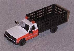 Trident Chevy Stake Truck FDNY Red & White Cab W Black Bed HO Scale Model Railroad Vehicle #90198