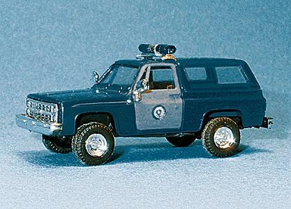 Trident Miniatures Chevrolet Blazer Massachusetts State Police -- HO Scale Model Railroad Vehicle -- #90233