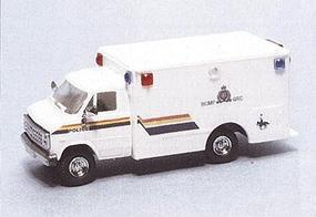 Trident Royal Canadian Mounted Police Ambulance HO Scale Model Roadway Vehicle #90299
