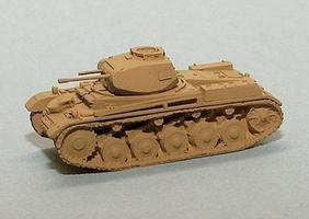 Trident Light Tanks SdKfz 121/PzKpfw II Model F Sand HO Scale Model Roadway Vehicle #90334