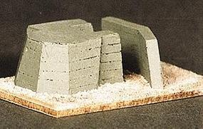 Trident Large Atlantic Wall Bunker Resin HO Scale Model Railroad Building #99002