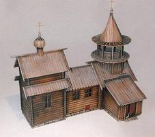 Trident Resin Structure Castings Russian Church HO Scale Model Railroad Building #99024